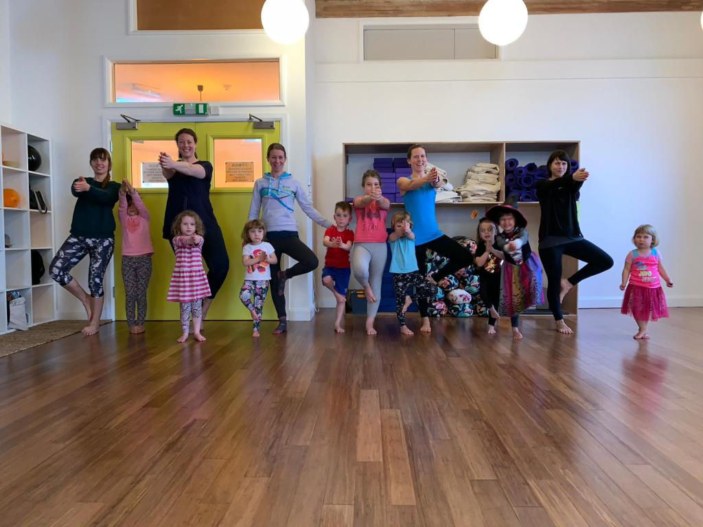 Yoga with kids at KellyAnn Yoga