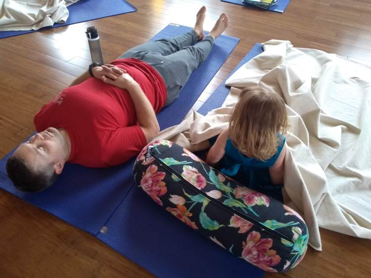 Family yoga in Saltaire